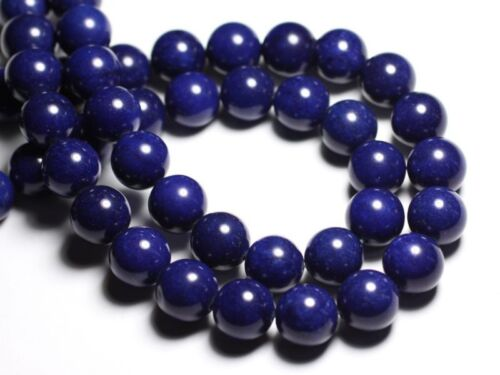 4pc Jade Boules 14mm Bleu Nuit 4558550081612 Perles de Pierre