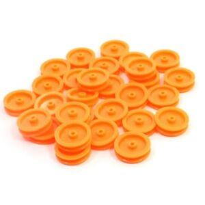 H3-30-Stueck-2mm-Loch-orange-Plastikguertel-Riemenscheibe-fuer-DIY-RC-Spielzeug