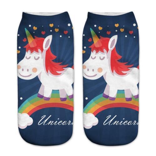 3D UniCorn Print Women Socks Animal Print Ankle SocksHorse Magic 14 Designs
