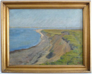 Humoristique Edvard Sarvig Impressionniste, Küstenlinie, Mer Baltique,