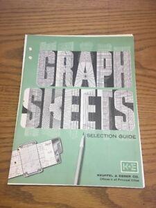 CE) Graph Paper Semi Logarithmic 2 Cycle K&E Keuffel Esser 464972
