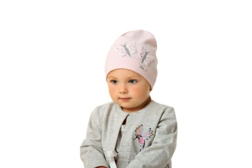 Baby Girls Toddlers Spring Autumn Cotton Elastic Beanie Hat Cap Size 0-8 years