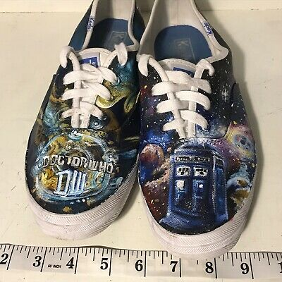 Doctor Who Canvas Shoes Women Fashion Casual Shoes TARDIS Men/'s Black Sneakers