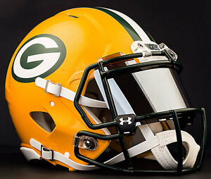 ac8e32d945d Image is loading CUSTOM-GREEN-BAY-PACKERS-NFL-Riddell-Speed-AUTHENTIC-