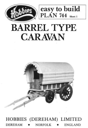 Hobbies Easy to Build Plan of Barrel-type Caravan P744