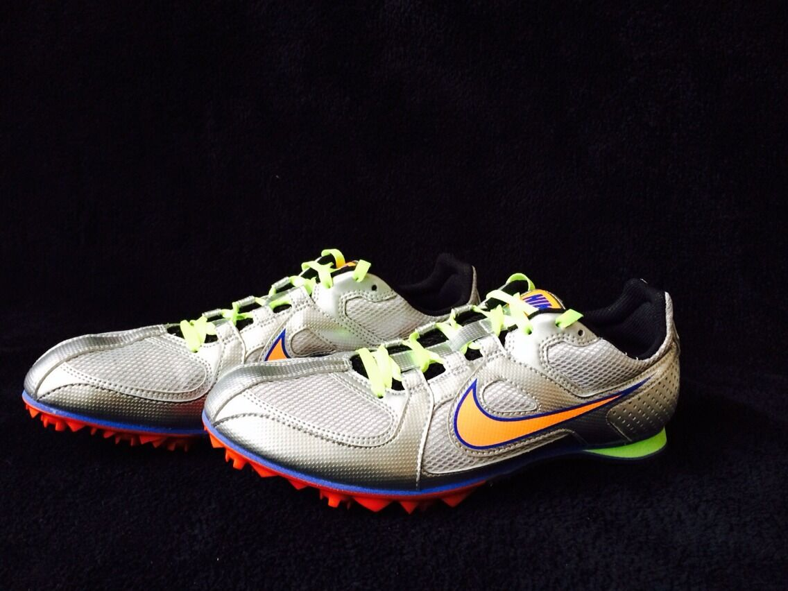 Nike Rival MD 6 Silver Multi-Use Track Spikes Shoes Mens Comfortable