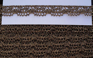 1-2-034-OLDE-GOLD-METALLIC-WOVEN-TORCHON-LACE-BORDER-JAPAN