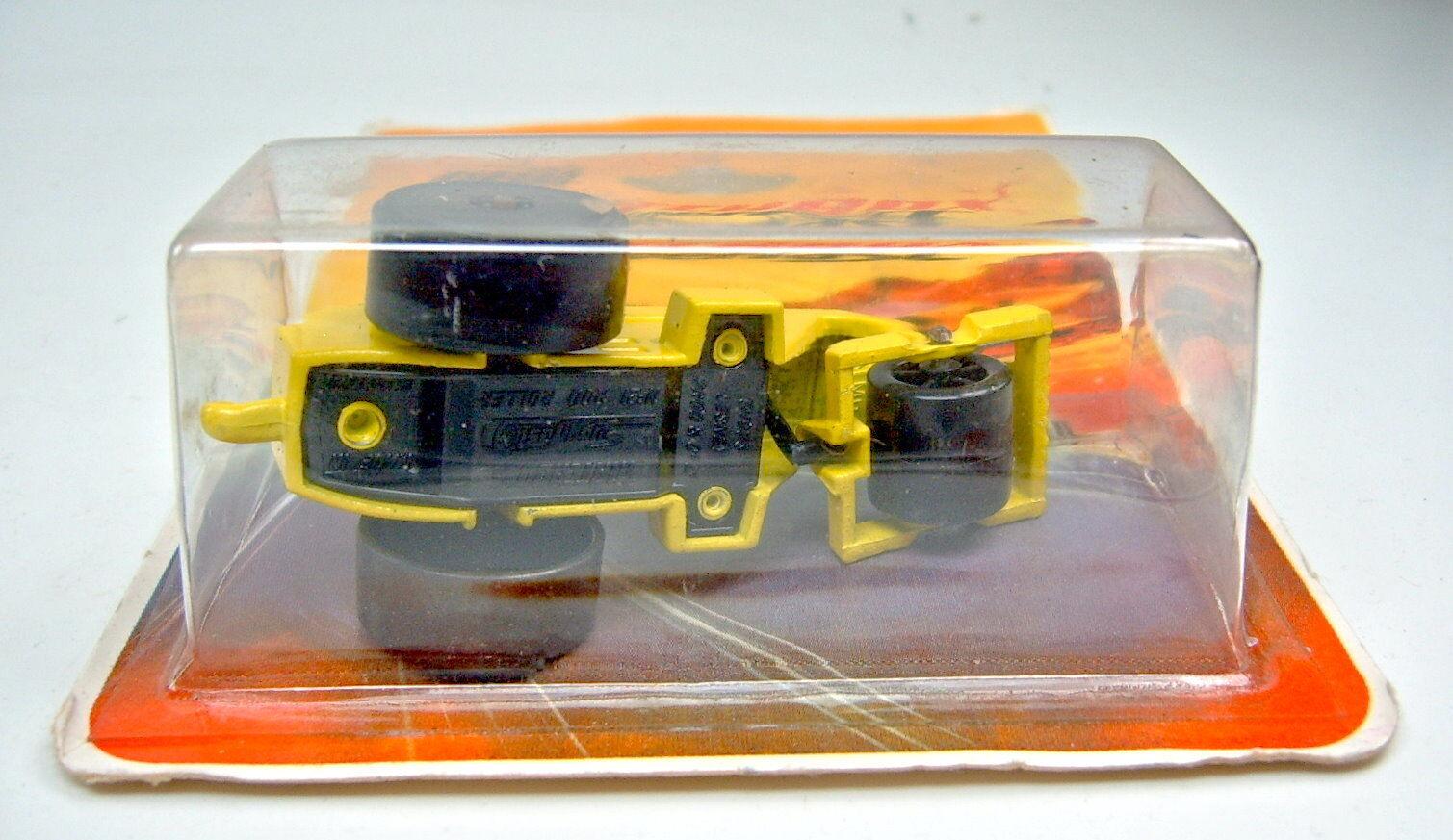 Matchbox SF Nr. 21B Rod Roller yellow blacke blacke blacke Bodenplatte top im Blister 850f67