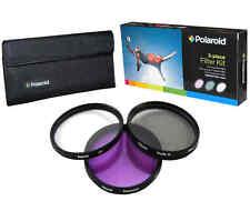 Polaroid Optics 77mm 3 Piece Camera Lens Circular Filter Set (UV, CPL, FLD)