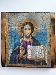 Jesus Christ Our Lord Old Style Icon on Wood Base Спаситель Икона