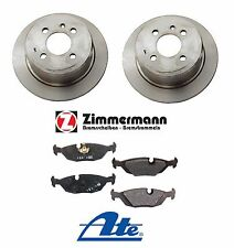 BMW E30 325iX 1988-1991 Rear Zimmerman Disc Brake Rotors & Ate Pads Brake Kit