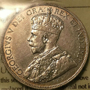 1913-CANADA-SILVER-50-CENTS-ICCS-VF-30