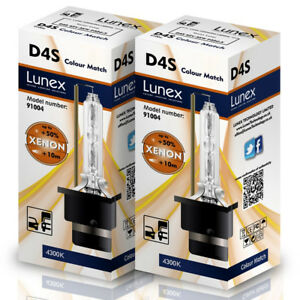 2-x-D4S-Genuine-LUNEX-CAR-XENON-BULBS-REPLACEMENT-FOR-PHILIPS-GE-OSRAM-4300K