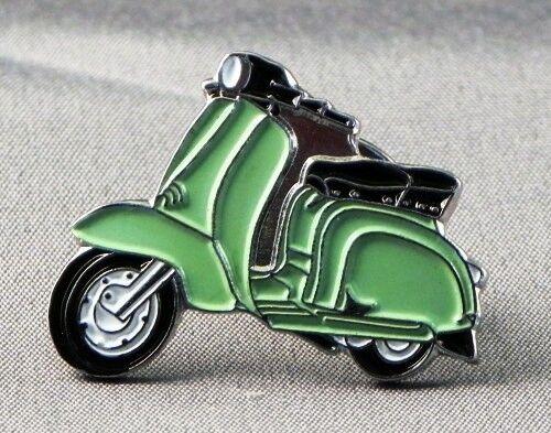 Metal Enamel Pin Badge Brooch Italian Scooter Lam Mod Rider Biker Light Green