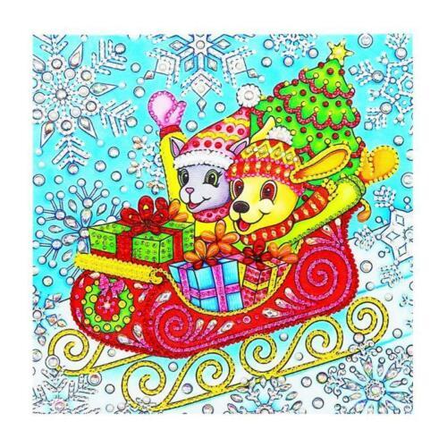 Christmas 5D Diamond Painting Embroidery Needlework Cross Crafts Stitch Kit DIY