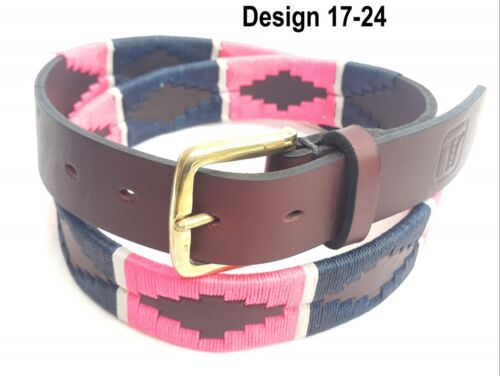 Polo Belt Argentinian Gaucho brown leather belt Plus Free keyring