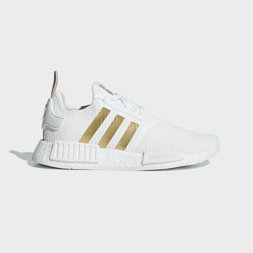 New Adidas Original Womens NMD R1 WHITE   gold B37650 US W 5 - 8 TAKSE AU