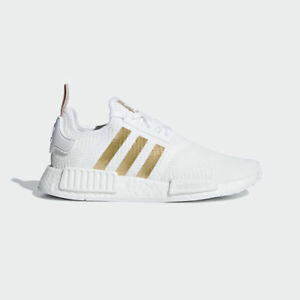 773753994e19 New Adidas Original Womens NMD R1 WHITE   GOLD B37650 US W 5 - 8 ...