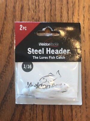 Lot Of 12 Weldon Steel Header Jigs 1//16oz RED HEAD//BLACK