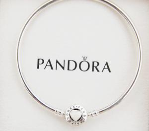 Genuine Pandora Silver Loving Heart Bangle You Are So Loved 19cm 590746en23 Ebay