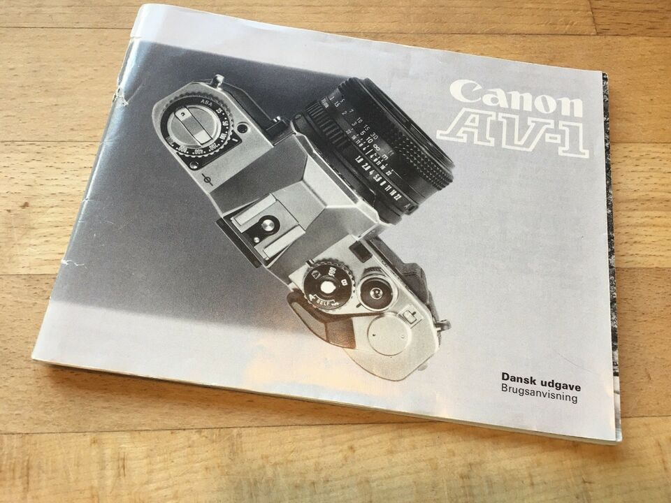 Manual til Canon AV-1, Canon, Manual