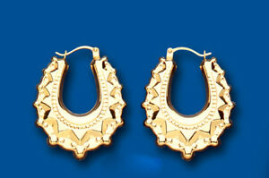 Gold-Creole-Hoop-Victorian-Style-Hoops-Yellow-gold-21-x-28mm
