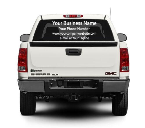 "18/"" or 24/"" 3-4 Line Custom Window Business Vinyl Decal Sticker Truck Car"