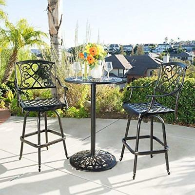 Stupendous Bar Height Bistro Set Outdoor Furniture Pool Patio Bar Stool With Tall Table Kit Ebay Beatyapartments Chair Design Images Beatyapartmentscom