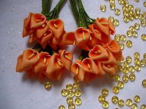 Calla-mini-48-St-Anstecker-Hochzeit-HochzeitsansteckerTischdeko-Taufe-Streudeko