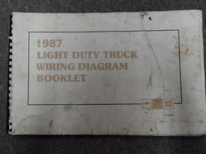 1987 Chevy Light Duty Truck Electrical Wiring Diagram Service Shop Manual  OEM x | eBay
