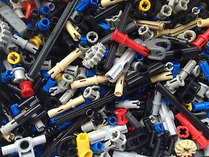 Lego-Technic-160-Mixed-Parts-Bushes-Pins-Axles-Connectors-Gears-P-amp-P-FREE