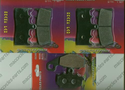3 sets Kawasaki Disc Brake Pads ZX636 Ninja ZX-6R  2002 Front /& Rear