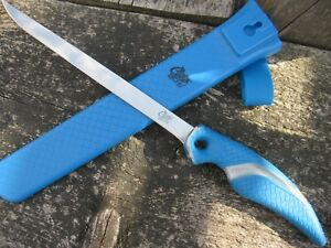 Grosses-Cuda-Filetiermesser-21-5cm-Klinge-Angel-Messer-Filiermesser-Titannitrid