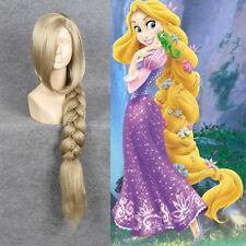 Disney Movie Tangled Rapunzel Cosplay Wig Long Blonde Big Plait Braid Tail Wigs
