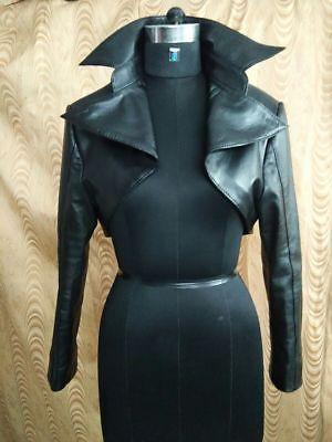 Womens100/% Genuine Lambskin Leather Crop Moto Bolero Shrug Biker Jackets SlimFit
