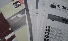 Original BDA Bedienungsanleitung Sony MDS JE 330 MiniDisc Recorder
