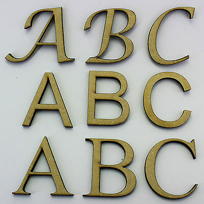 80mm 60mm 100mm 2mm  MDF Wood Letters /& Numbers and more Font Heights: 40mm