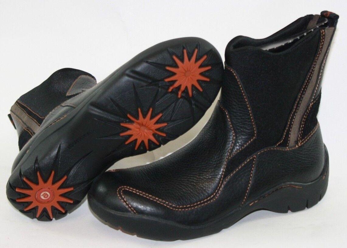 Nueva camiseta para mujer Dunham 911 BK Negro Resbalón En El Cuero Zapatos botas al Tobillo Elástico