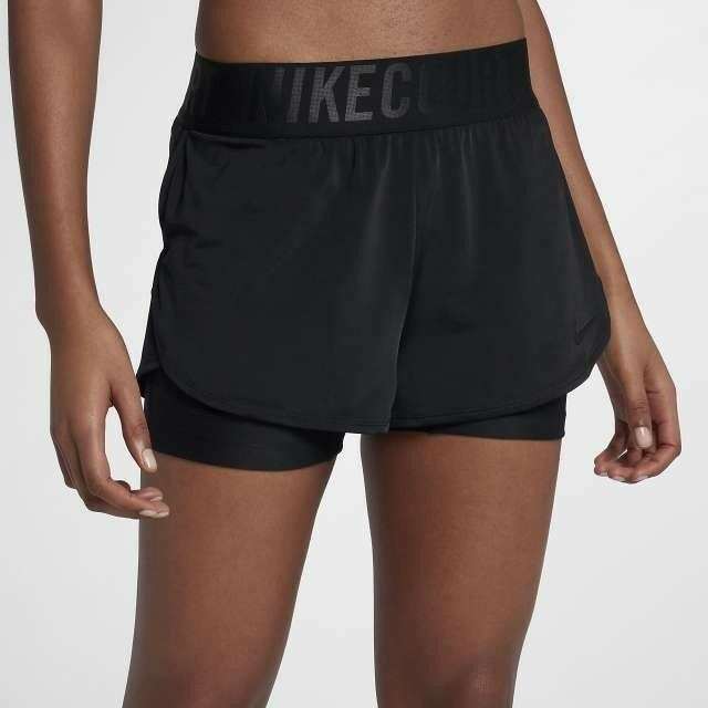 Ladies NIKE Court ACE 2 in 1 Tennis Shorts Dri Fit Size X Small  923581-010