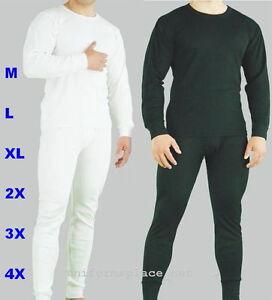Mens Thermal Set UNDERWEAR Long John 2pc SET Pant & shirt set ...