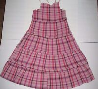 Girls Gap Kids Pink Plaid Gauze Sundress Dress Size Xxl 14 16 Plus