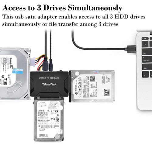 "USB 3.0 to IDE//SATA Converter Adapter Kit For 2.5/""//3.5/"" SATA//IDE//SSD Hard Drive"