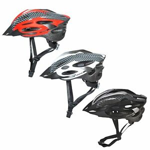 Trespass-Crankster-Adults-Cycling-Bike-Helmet-Lightweight-in-Black-White-Red