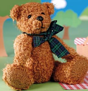 Tejer patrón tradicional juguete de oso de peluche 0489 20cm sentado HT