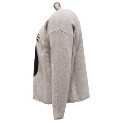 2715V maglione bimba IL GUFO lana grey wool sweater girl kid
