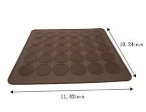 30-Cavity-Silicone-Macaron-Pastry-Oven-Baking-Mould-Sheet-Mat-DIY-Mold-Tray
