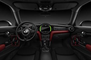 Door Lower Speaker Trim Carbon Fiber Garnish For BMW Black S F55 F56 F57 Set