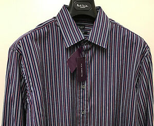 Paul-Smith-Shirt-MULTISTRIPE-034-LONDON-034-CLASSIC-FIT-16-5-034-Eu-42-BNWT-RRP-140