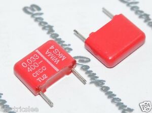 TRW 0.1uF 35V 10/% 7814 Audio Axail Capacitor 10pcs