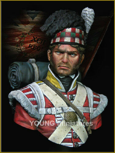 Young Mins 92nd Gordon Highlanders 1815 Bust YH1826 1 10th Unpainted Kit